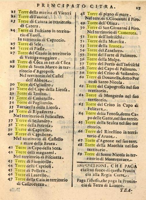 Bacco Alemanno, p. 25, torri